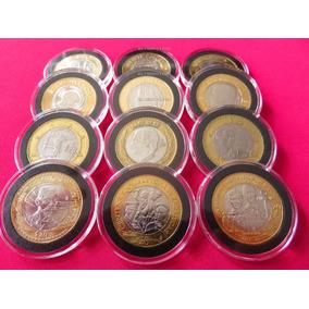 Capsula Premium Para Moneda De 20 Pesos 32 Mm Lote De 10