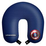 Capitão America Travesseiro Almofada Pescoço Viagem + Brinde