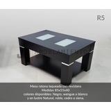 Mesa Ratona Laqueada Con Revistero. 80x55x40