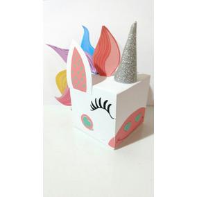 10 Cajas Souvenir Unicorn Party Rainbow Unicornio Candy Bar