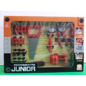 Brinquedo Infantil Ferramentas Junior Serrote Morsa Martelo