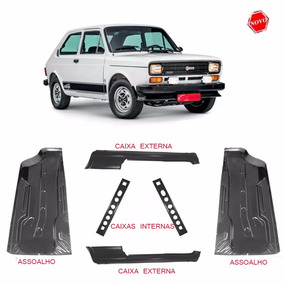 Kit Assoalho Fiat 147 + Caixas Ar Internas E Externas