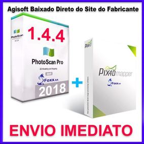 Agisoft Photoscan Pro Black 1.4.4 + Pix4d + App + Video Aula