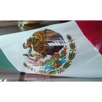 Bandera Mexico Bordada Doble Vista 90x1.58 Mt Reglamentaria