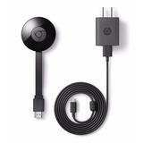 Google Cromecast 2da Gen. Smart Tv Netflix Youtube C/fuente