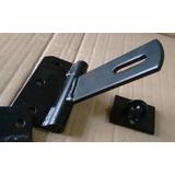 Fecho Porta Cadeado Reforçado Portão Baia F4 10cm - 2 Pçs