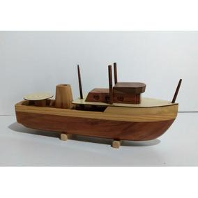 Navio Decorativo Barco De Madeira Barco Em Miniatura