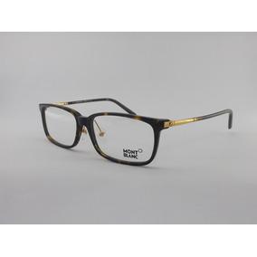 7e3b325fef9c9 Armação Oculos De Grau Mont Blanc Mb303 Dourado Meio Aro - Óculos no ...