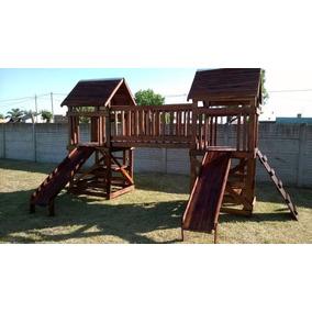 juego de madera para exteriores toboganes trepadores