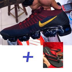 Kit Tênis Nike Vapormax Flyknit 2 Original Chinelo Kenner