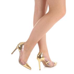 Sapato Scarpin Feminino Lara - Dourado(a)