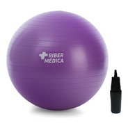 Bola Suiça 55 Cm C/ Bomba - Yoga Pilates Fitness Ribermedica
