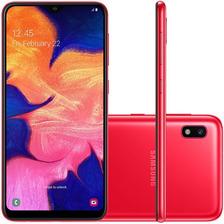 Celular Samsung A10 Vermelho 32gb 6.2'' 2gb Ram 13mp Dual