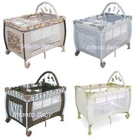 Berço Bebê Cercado Desmontavél C/regulagem De Altura Plus