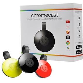Google Chromecast 2 Negro Original, Con Fuente, Sellados!