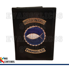 Carteira Missionário Evangélico Luxo (logo Jesus) 01