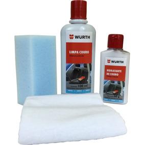 1 Kit Limpeza E Hidratação Wurth De Banco Couro Carro Moto