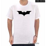 Camiseta Batman Emblema De Morcego Preto Bruce Wayne