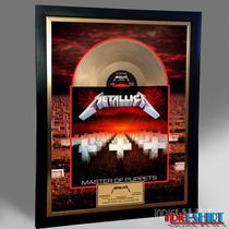 Cuadro Decorativo Metallica Master Of Puppets Disco Oro Lp