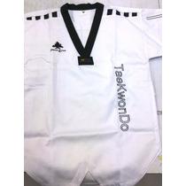 Dobok Victory/pine Tree Tela Flor Cuello Negro Taekwondo