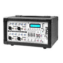 Hub Pyle Pmx402m 400-watt 4-channel Powered Mixer With Aux