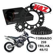 Kit Relação Honda Xr250 Tornado Para Trilha 48/12 Vaz 3119