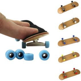 Fingerboard Skate Dedo Profissional Madeira Rolamento Barato