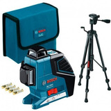Nivel Láser De Planos Gll 3-80 P + Bs150 Bosch 360 Grados