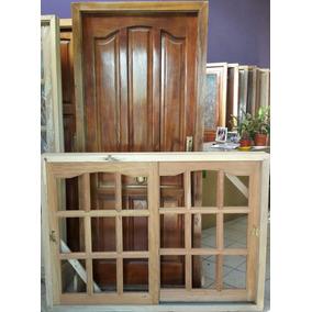 Oferta Combo Puerta+ventana 150x110 Corre.cedro