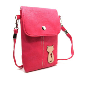 Naoki Vertical Pu Leather 3d Cat Smart Mobile Cellpho -rosa