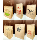 Bolsas Kraft Con Asa Personalizadas