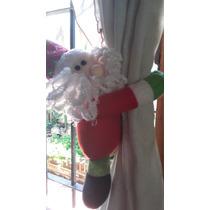 Sujeta Cortinas Cortinero Navidad Papa Noel El Par