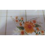 Toalha De Mesa Plástico Flanelada Quadrada 1,40 X 1,40