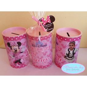 Cofrinhos Personalizados Minnie Rosa Embalados 20 Unid.
