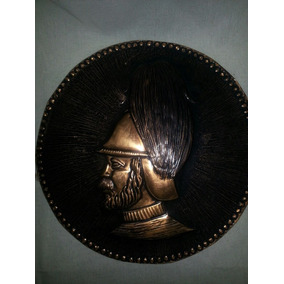 Figura Emblema Soldado Cobre Para Pared