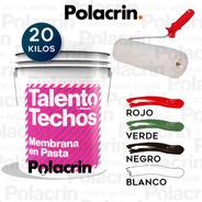 20 Lts En Pasta Polacrin Talento Rodillo + Membrana Liquida