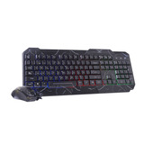 Kit Teclado Y Mouse Gamer Rgb Led Multimedia Naceb Na-633