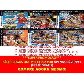 Anime One Piece Pirates Carnival Play 2 (kit 6 Jogos Ps2
