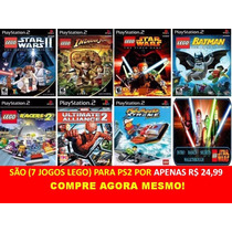 Lego Star Wars Para Playstation 2 (kit 7 Jogos Ps2 Infantis