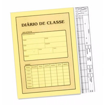 Diario De Classe Bimestral Professor Escola Atacado Com 10