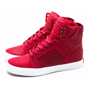 Supra Woman Skytop (bordo-blanco)