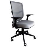 Cadeira Escritório Gerente Mont Blanc Cinza - Pronta Entrega