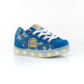 Zapatillas Led Usb Minions Azul Addnice Sport 78
