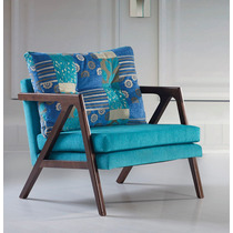 Poltrona Cadeira Decorativa Madeira Ibiza