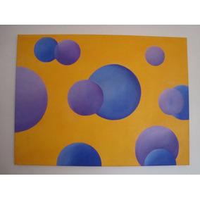 Cuadro Moderno Con Lienzo Pintado Al Óleo. Artista De Expo.