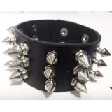 Munhequeira Pulseira Bracelete Spikes Rock Punk Promoção
