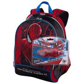 Mochila De Costas Homem Aranha Spider Man Óculos Escolar