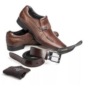 Kit 4 Em 1 Sapato Rafarillo Las Vegas Em Couro