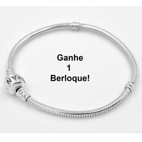 Bracelete Pulseira Pandora + Berloque Grátis