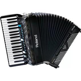 Sanfona Acordeon Roland Fr3x Elétrico Preto Com Bag